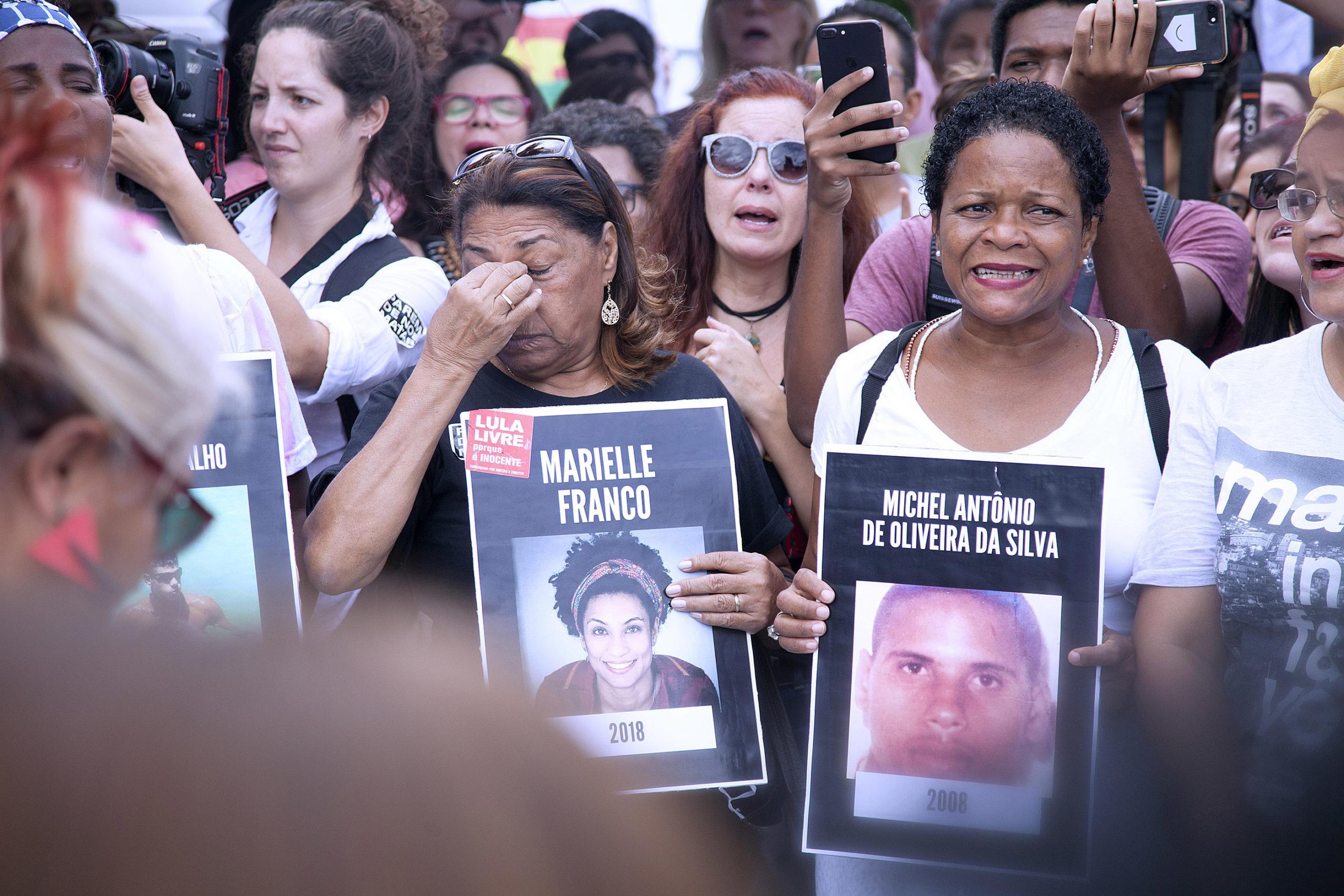 Protesto contra o assassinato de Marielle e Anderson