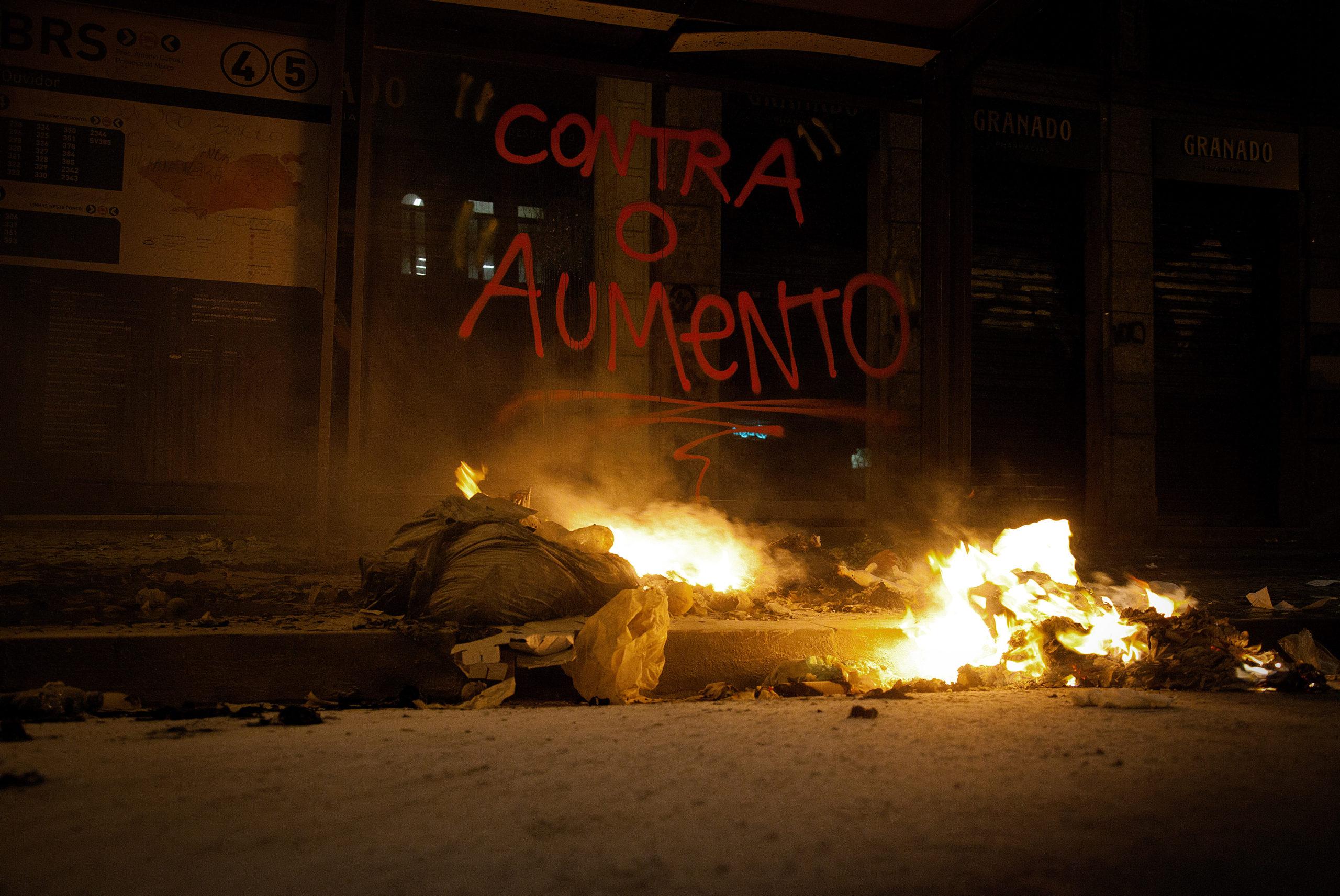Protesto contra o aumento da tarifa em 2013 - RJ