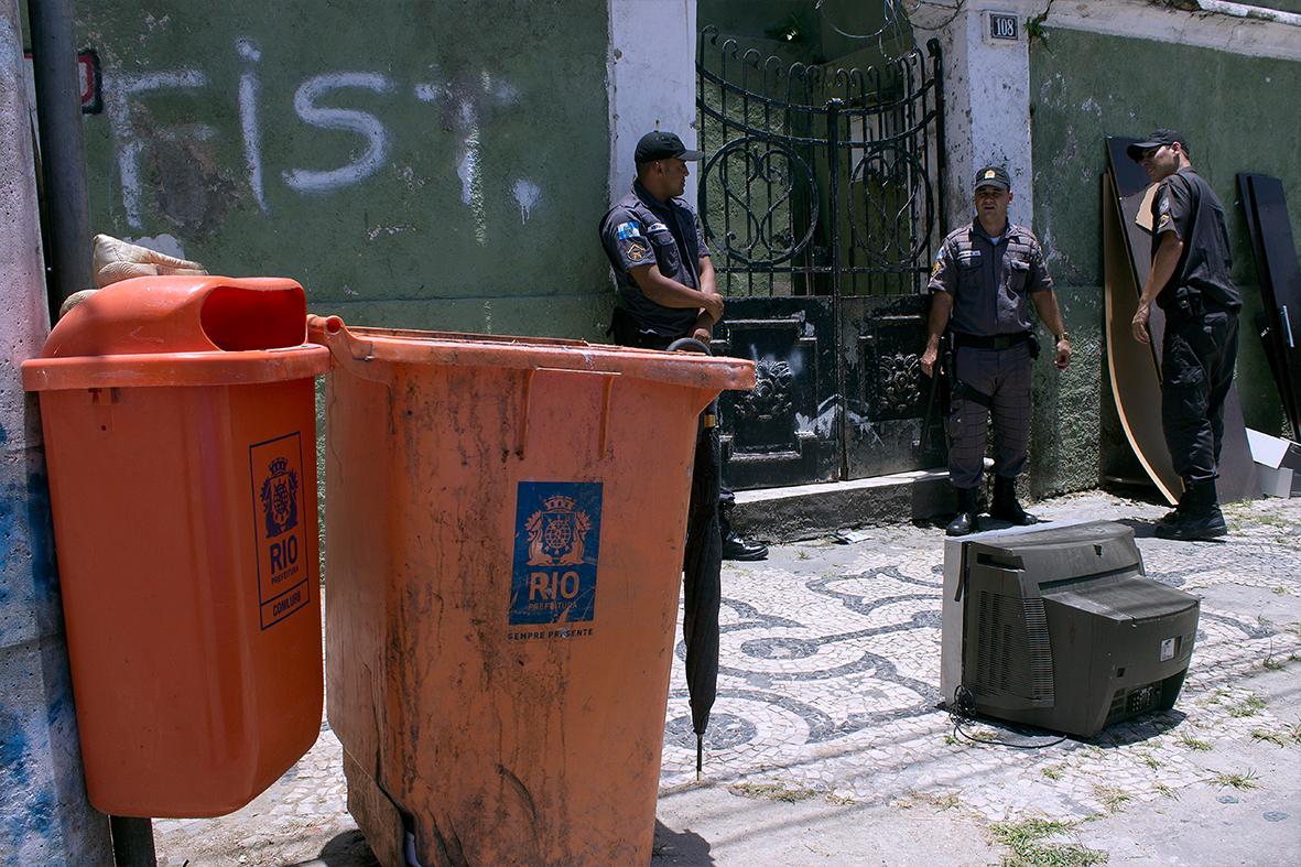 Ocupação Fidel Castro em Santa Teresa, Centro do Rio — Foto: Rafael Daguerre